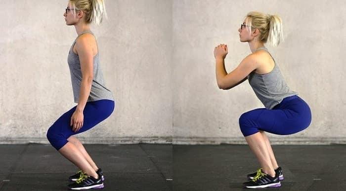 تمرین اسکوات برای کاهش درد کمر