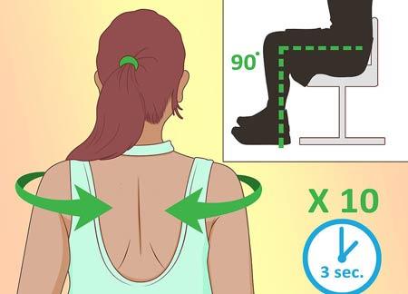 درمان قوس گردن (سر و گردن به جلو) با طب فیزیکی و ورزش