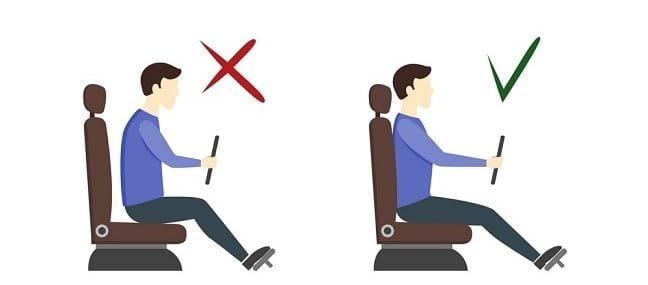 طرز صحیح رانندگی برای پیشگیری از گودی کمر