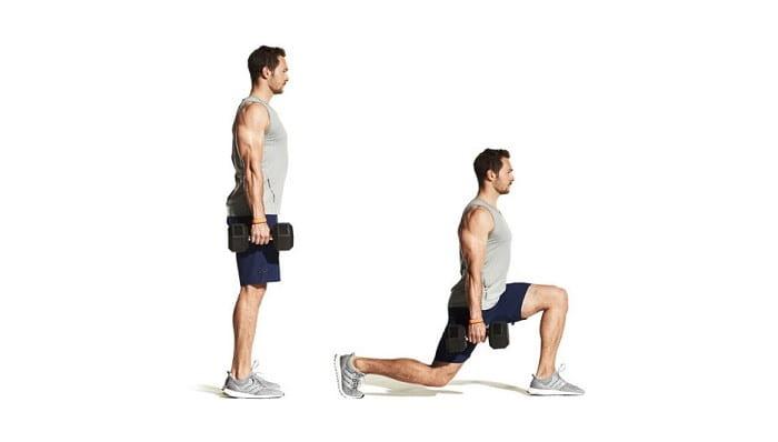 تمرین لانج ایستاده برای کاهش درد کمر