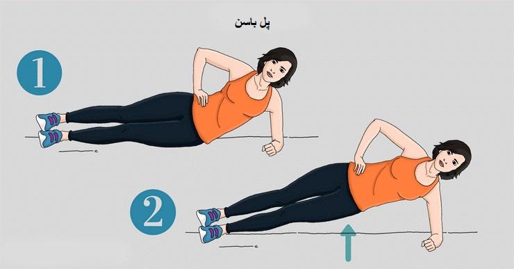 مرحله 7 تقویت عضلات باسن با حرکت پل