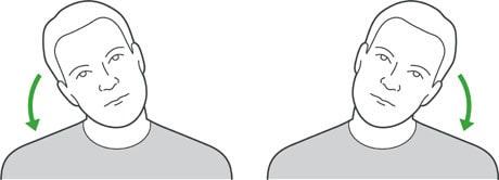 چرخاندن گردن (از یک طرف به طرف دیگر)