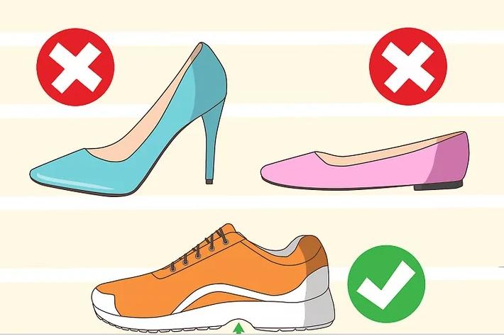 کفشهایی بپوشید که به خوبی قوس کف پایتان را پوشش میدهند
